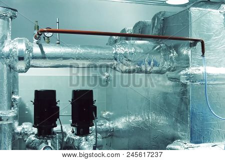 Thermal Insulation Of A Pipes With Foil.