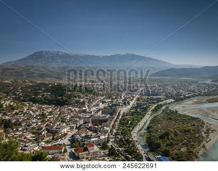 View Of Berat Berati Historic Old Town In Albania