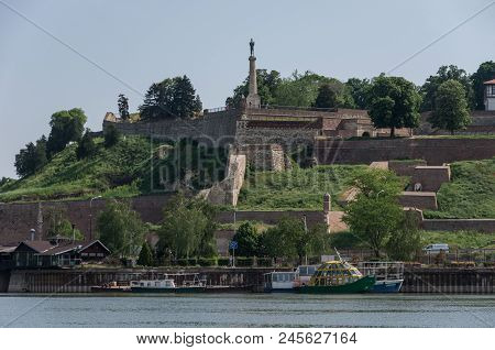 Belgrade, Serbia - April 30, 2018:  Kalemegdan Fortress, Stambol Gate Monument To