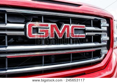 Monticello - Circa June 2018: Gmc Truck Dealership. Gmc And Buick Are Divisions Of Gm I