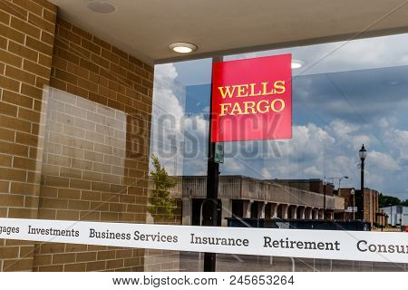 Monticello - Circa June 2018: Wells Fargo Signage And Logo. Wells Fargo Is Selling All Its Branches