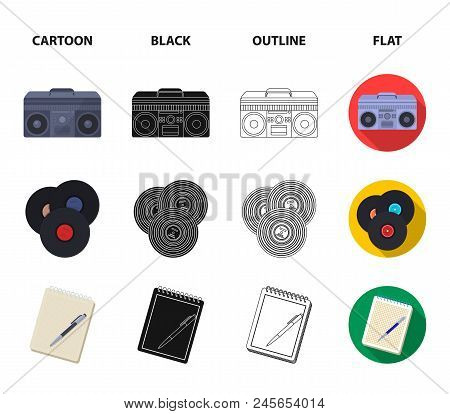 Hipster, Fashion, Style, Subculture .hipster Style Set Collection Icons In Cartoon, Black, Outline,