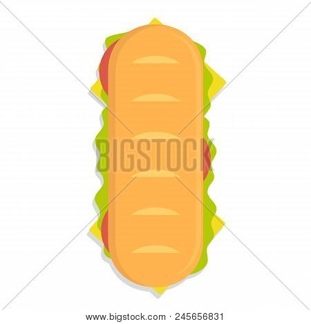 Sandwich Top Icon, Flat Style. Stock Vector Illustration
