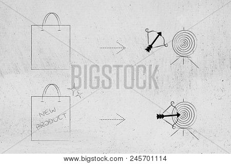 Successful Or Unsuccessful Marketing For Yout Target Market Conceptual Illustration: Generic Product