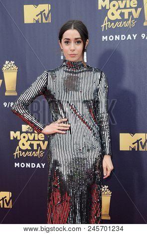 Cristin Milioti at the 2018 MTV Movie And TV Awards held at the Barker Hangar in Santa Monica, USA on June 16, 2018.