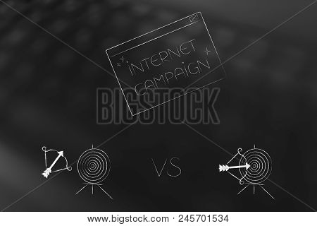 Successful Or Unsuccessful Marketing For Yout Target Market Conceptual Illustration: Internet Campai