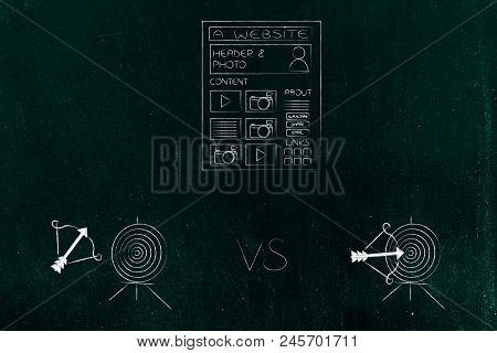 Successful Or Unsuccessful Marketing For Yout Target Market Conceptual Illustration: Website Icon Wi