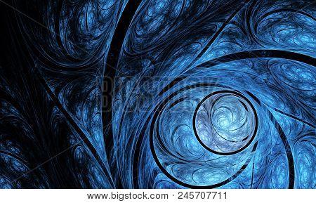 Split Nautilus Seashell Showing Inner Float Chambers, Fractal Spiral