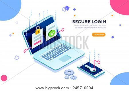 Smartphone Safe Certificate, Two Identity Authentication Concept. Verify Permission Request. Used Fo