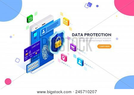 Cyber Security Authentication, Access By Encryption To The Network Or Computer. Can Use For Web Bann