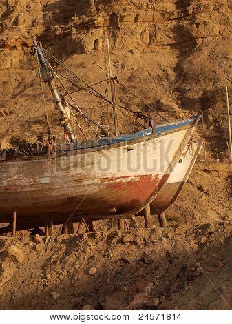 Abandoned fishing ships