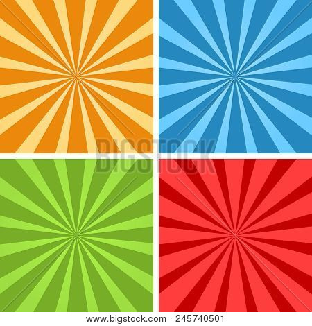 Hypnotic Vector. Sun Burst Background. Comic Yellow Fone
