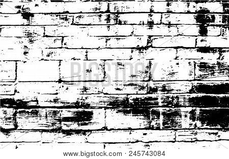 Vector Bricks And Stones Texture. Abstract Background, Old Brick Wall. Overlay Illustration Over Any