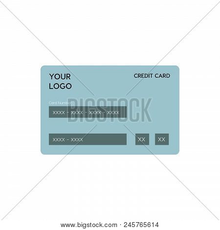Credit Card Vector Icon, Simple Illustration