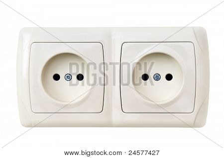 electrical outlet isolated on a white background.