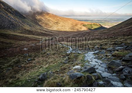 A Low Lying Cloud At Hares Gap On The Mourne Mountains.