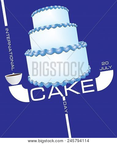 Incredible Three Tier Birthday Vector Photo Free Trial Bigstock Funny Birthday Cards Online Elaedamsfinfo