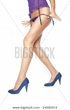 Girl Taking Her Panties Off