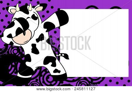 dab dabbing pose cow vector photo free trial bigstock
