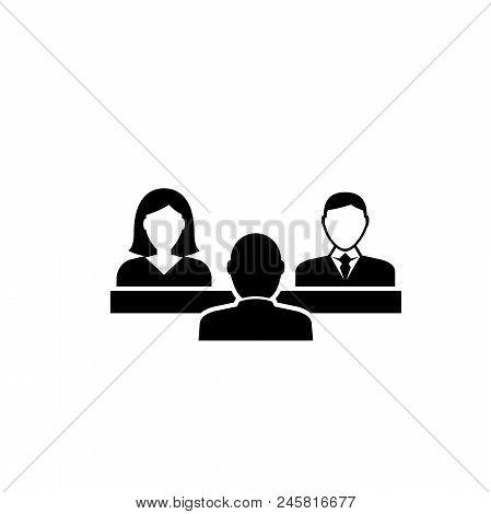 Political Debates. Flat Vector Icon Illustration. Simple Black Symbol On White Background. Political