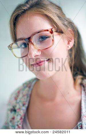 Cute Smart Looking Friendly Blond Girl.