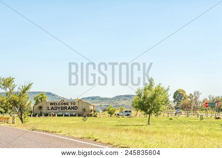 Ladybrand, South Africa - March 12, 2018: The Southern Entrance To Ladybrand, A Town In The Eastern