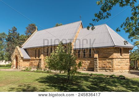 Ladybrand, South Africa - March 12, 2018: The Historic St. James Anglican Church In Ladybrand, A Tow