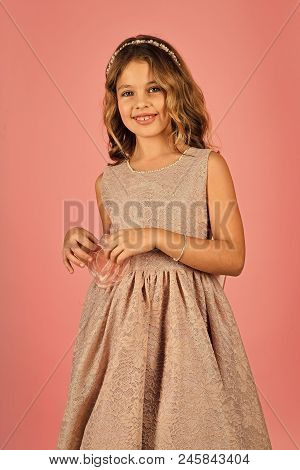 Fashion And Beauty, Little Princess. Little Princess In Dress. Little Princess Girl