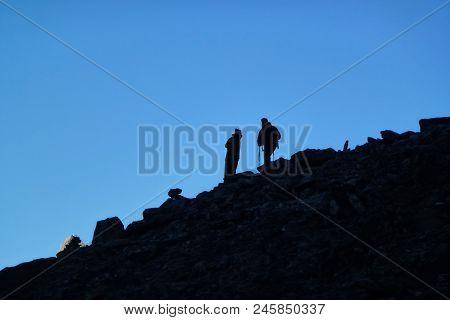 Climbers Over The Kala Patthar, Gorak Shep, Everest Base Camp Trek, Nepal