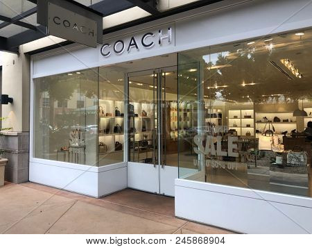 Scottsdale,Az/USA - 6.15.2018: Coach owned by Tapestry, Inc. was founded in 1941 in NYC., known for women's apparels and accessories which include handbags, foot wear, outer wear,ready to wear.