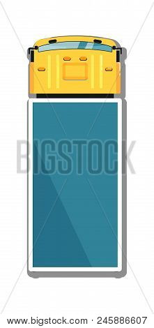 Commercial Truck Isolated Top View Icon. Commercial Van, Modern Lorry Car, Freight Transport Side Vi