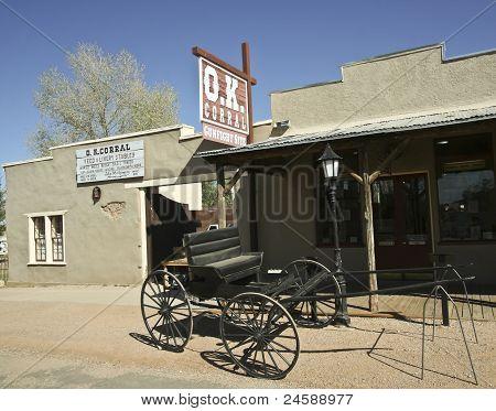 A Wagon At The O.K. Corral, Tombstone, Arizona