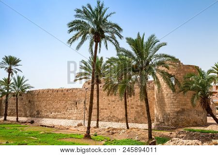 Aqaba Castle, Mamluk Castle Or Aqaba Fort Located In Aqaba City, Jordan