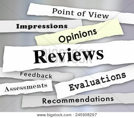 Reviews Opinions Feedback Newspaper Headlines 3d Illustration