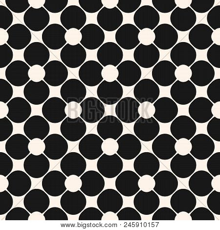 Abstract Geometric Seamless Pattern. Black And White Floral Ornamental Background, Repeat Tiles, Cir