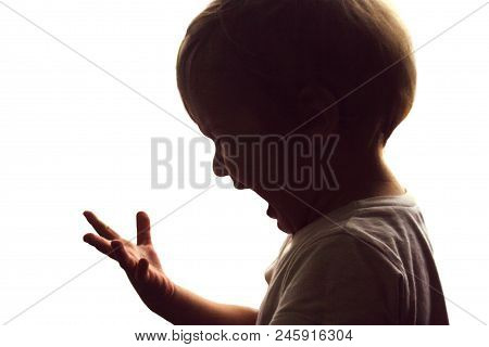The Little Boy Screams And Cries. He Looks At His Hand. He Feels A Wild Pain From A Burn Or A Wound.