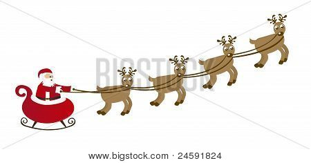sleigh cartoon