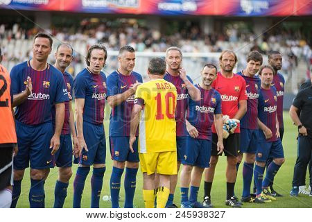 Football Players During A Match