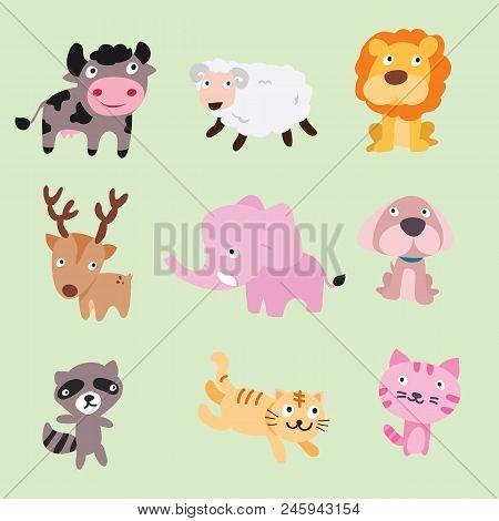 Animals Vector Character Design, Animals Set, Animals Collection