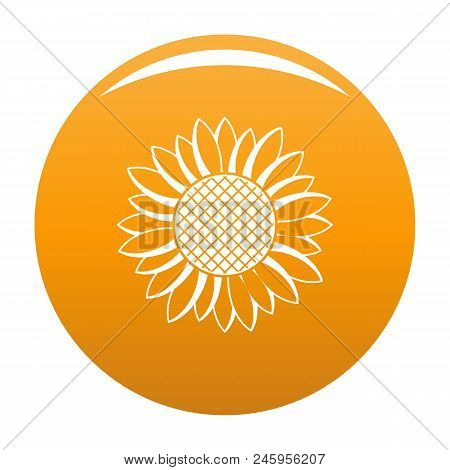 Nice Sunflower Icon. Simple Illustration Of Nice Sunflower Vector Icon For Any Design Orange
