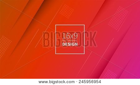 Futuristic Design Red Background. Templates For Placards, Banners, Flyers, Presentations And Reports