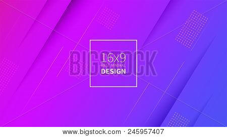 Futuristic Design Purple Background. Templates For Placards, Banners, Flyers, Presentations And Repo