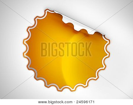 Orange Round Hamous Sticker Or Label