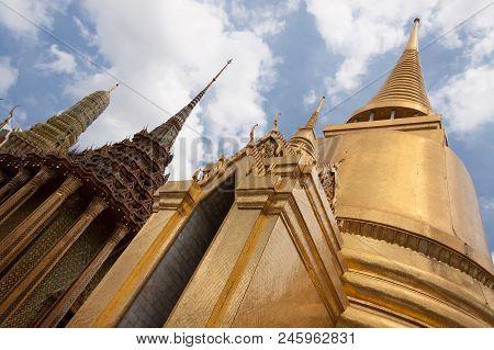 Golden Pagoda In Wat Phra Kaeo, Temple Of The Emerald Buddha