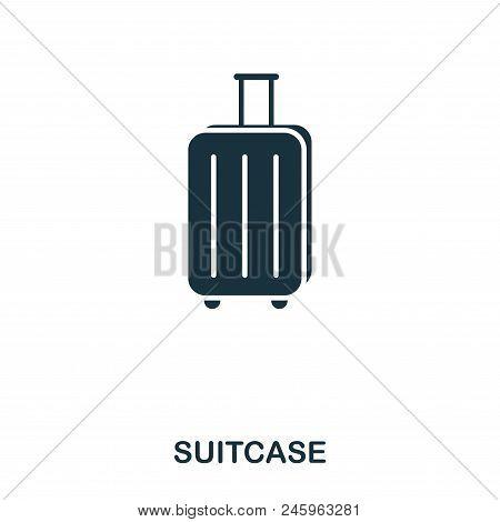 Suitcase Icon. Mobile App, Printing, Web Site Icon. Simple Element Sing. Monochrome Suitcase Icon Il