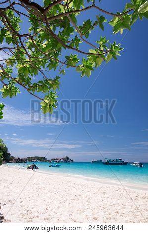 Beautiful Tropical Beach At Similan Island, Thailand
