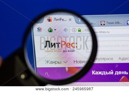 Ryazan, Russia - June 16, 2018: Homepage Of Litres Website On The Display Of Pc, Url - Litres.ru