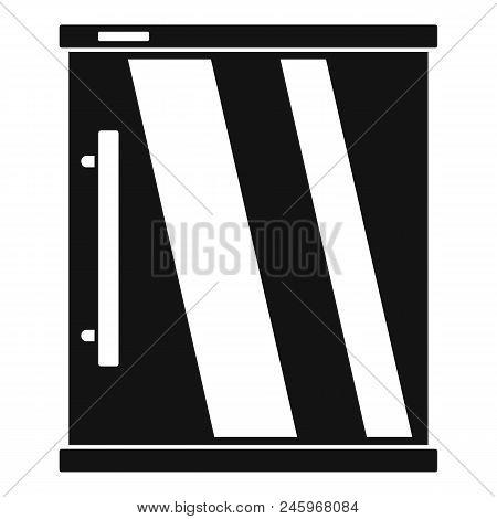 Mini Refrigerator Icon. Simple Illustration Of Mini Refrigerator Vector Icon For Web Design Isolated