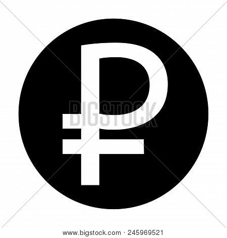 Ruble Sign Icon Stock Vector Illustration. Eps 10