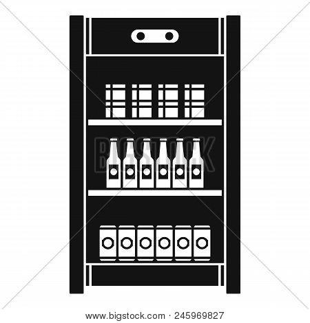 Drinks Refrigerator Icon. Simple Illustration Of Drinks Refrigerator Vector Icon For Web Design Isol